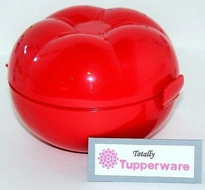 "Tupperware Tomato Keeper 4.5"" D Red Hinged Food Storage Container"