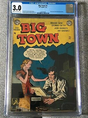 Big Town 1 (1951) - CGC-Graded 3.0!  Golden Age Crime!