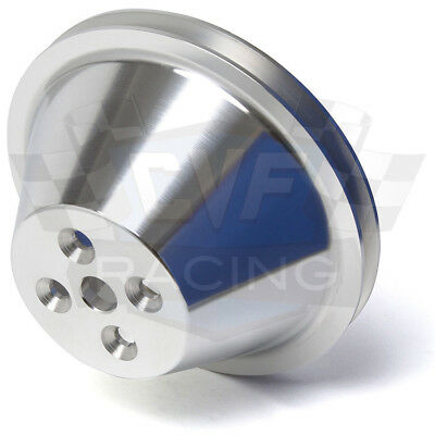 Billet Aluminum Small Block Chevy Water Pump Pulley 1 Groove SWP 350 Short SBC