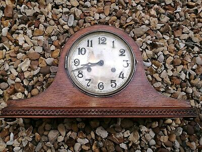 A Vintage Haller Napoleon Hat Shaped Mantel Clock Westminster Chime/or Silent