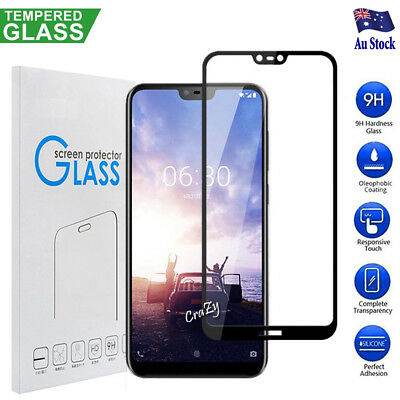 3D Full Coverage Tempered Glass Screen Protector For Nokia 6.1 Plus  / Nokia X6