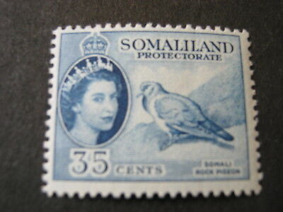 SOMALILAND PROTECTORATE  1953-58  35c BLUE  SG 142  MINT NEVER HINGED