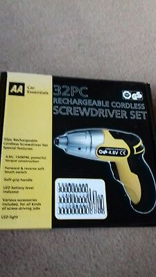 AA 32 Pc Rechargeable Screwdriver Cordless