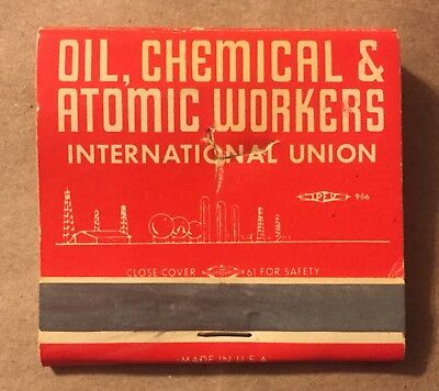 Oil, Chemical & Atomic Workers International Union Matchbook Used