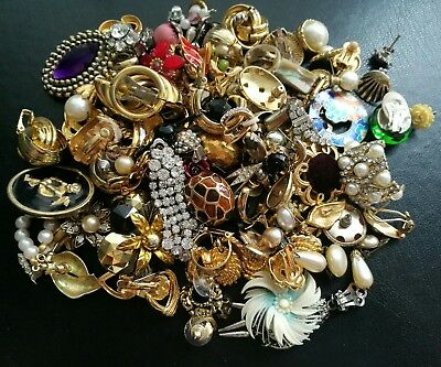 Job Lot Of Odd Vintage Earrings