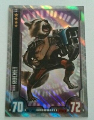 ROCKET Hero Attax Marvel Cinematic Universe holo foil #7 Guardians of the Galaxy