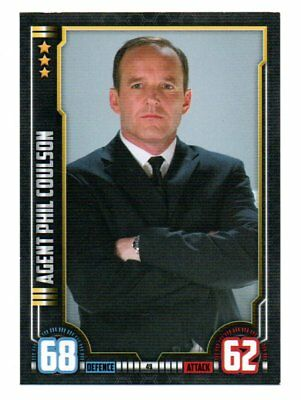 AGENT PHIL COULSON Hero Attax Marvel Cinematic Universe card #49 Iron Man