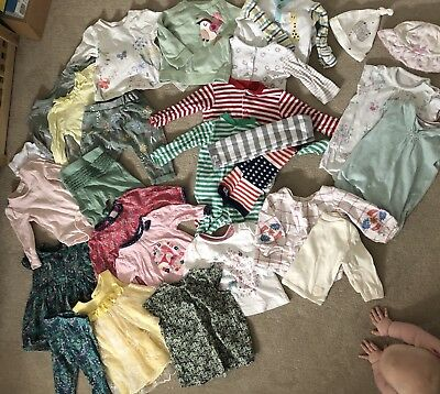 30 pieces baby girl's clothes clothing 3-6 months Next John Lewis New & Used VGC