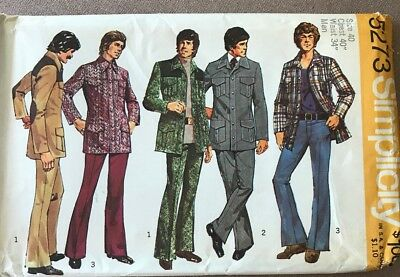 '70s Pattern For Mens Leisure Suit