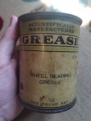 Vintage 1940's Scientifically Manufactured Grease Can