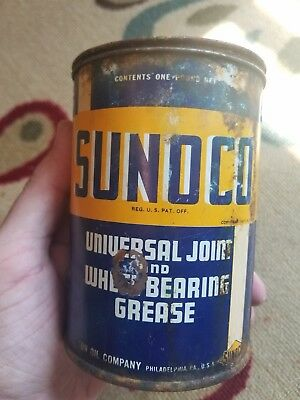 Vintage 1940's Sunoco Lubricant Can