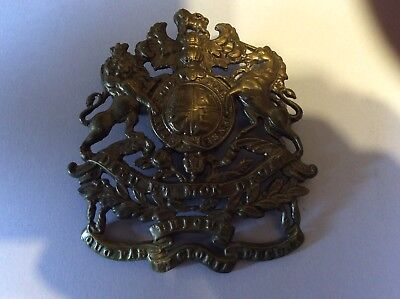 Royal Engineers Victorian crown helmet plate from 1850s