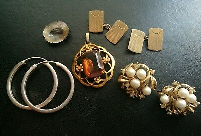Job Lot Of Antique Vintage Jewellery Including Silver