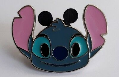 Disney Pin Trading Badge - Lilo and Stitch Head Smiling  STITCH