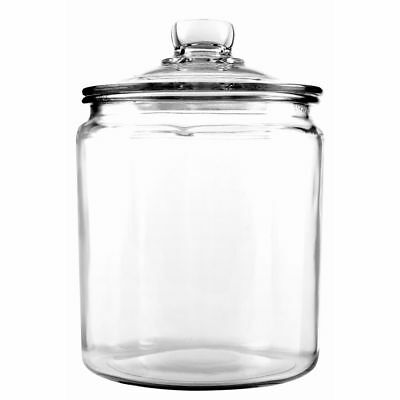 Anchor Hocking 85545R Half-Gallon Heritage Hill Glass Jar with Cover