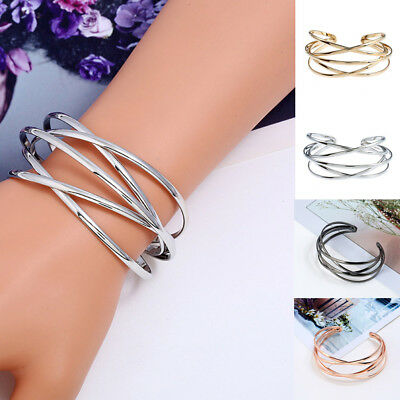 Fashion Women Multilayer Magnet Wrap Cuff Charm Bracelet Jewelry Gift Adjustable