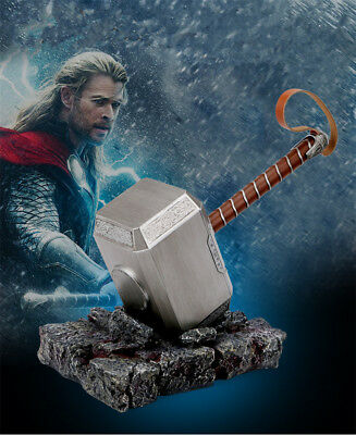 MARVEL Thor Hammer  Bluetooth Audio Wireless Speaker 1:1 Cosplay Prop With Base