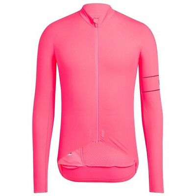 Rapha High Vis Pink Pro Team Long Sleeve Thermal Jersey. Size Small. BNWT.