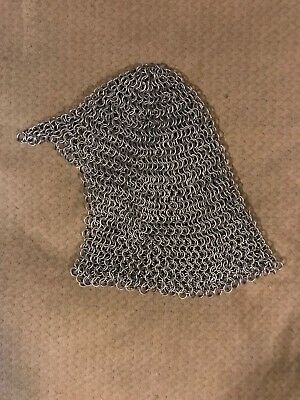 Medieval Chain Mail Coif Armor (Adult Size)
