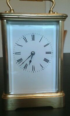 Carriage clock brass case winding with key