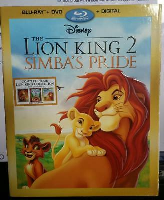 Disney The Lion King 2 Simba's Pride (Blu-ray + DVD + Digital) NEW SEALED