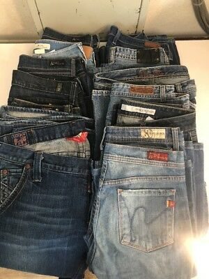 Reseller Lot:  13 Designer Women's Jeans Mixed Sizes- Lot #3