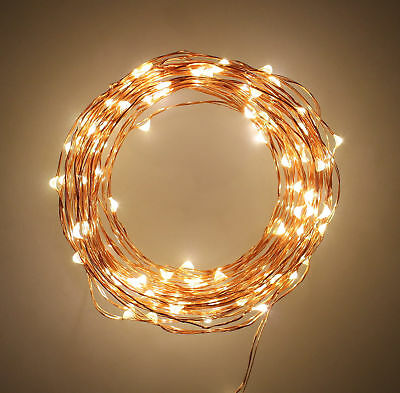 Indoor String Fairy Rice Lights, Dimmable LED String Lights Decor 33 feet 11 yds