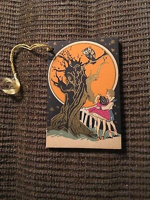 Vintage Halloween Bridge Tally Card 1920's  Excellent Condition
