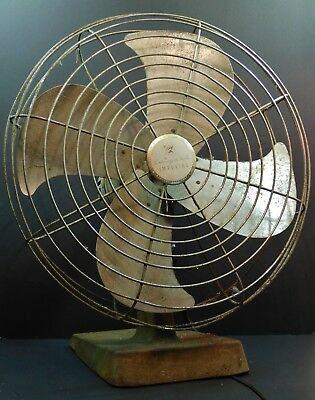 "Vintage Western Auto Supply 16"" Wizard Imperial Oscillating Electric Fan"