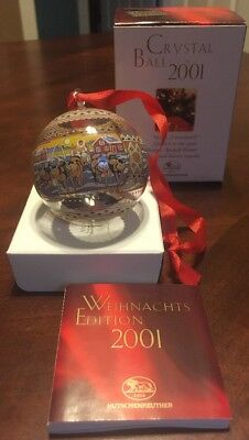 Hutschenreuther CRYSTAL CHRISTMAS BALL ORNAMENT 2001 Greenland Eskimo Sled Dogs