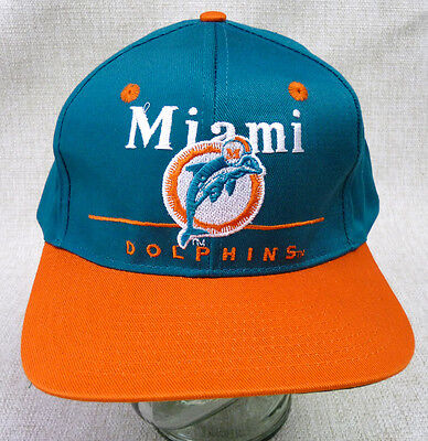... new zealand miami dolphins eastport snapback hat cap vintage 90s nos  new nwt deadstock 40708 78624 ... d520400e360