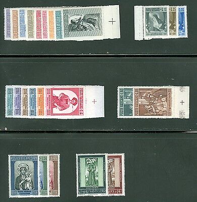 Vatican City 1956 Compete MNH Year Set