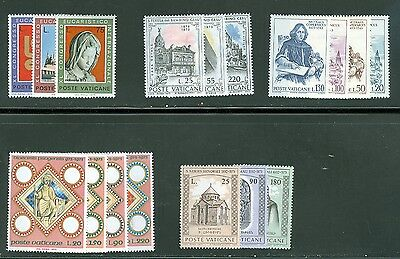 Vatican City 1973 Compete MNH Year Set