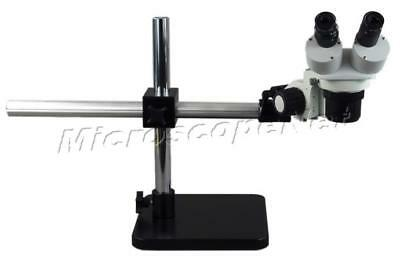 Boom Stand Binocular Stereo Fixed Power Microscope 20X-40X-80X Rotatable Obj New
