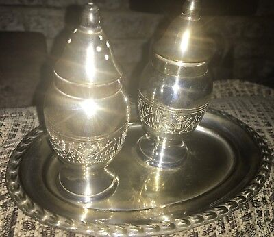 vintage silver plated condiment set