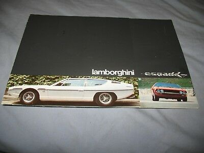 Lamborghini  ORIGINAL Espada brochure Etc. 10/70 smooth paper