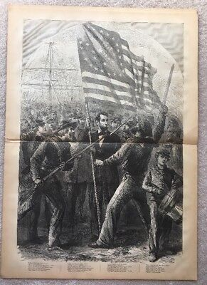 PRESIDENT ABRAHAM LINCOLN Harpers Weekly Oct 1864 SHERMAN Civil War Authentic