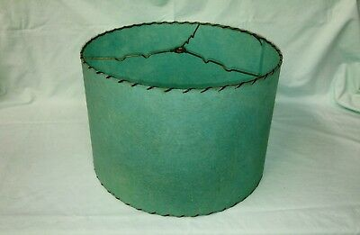 Vintage 1950's Turquoise Fiberglass Lampshade - Lovely!