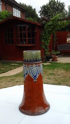 ROYAL DOULTON  POTTERY  ART NOUVEAU VASE date stamp 5719 sign G S