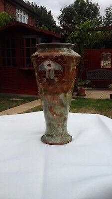 Royal Doulton  Pottery  Art Nouveau Vase Mb Sign Maun Bowden