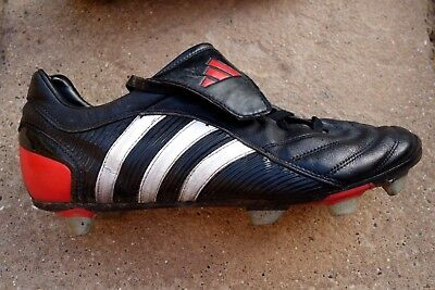 4b118112e Old school Adidas Predator TRX Soft Ground football boots–Size UK11 black  vgc