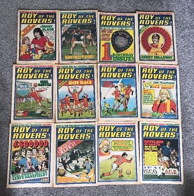 42 X ROY OF THE ROVERS from 1977-1978 Plus Holiday special Excellent Condition