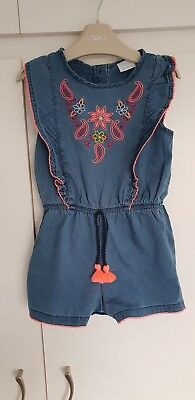 Girls 3-4 years F&F gorgeous summer holiday denim look playsuit