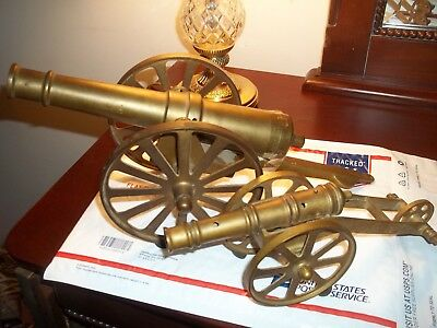 Vintage Brass Cannon Lot of 2