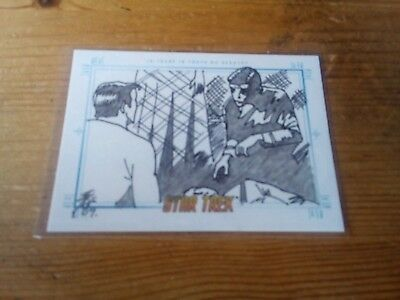 Star Trek Tos Portfolio Prints Sketch Card By Brian Kong Truth No Beauty