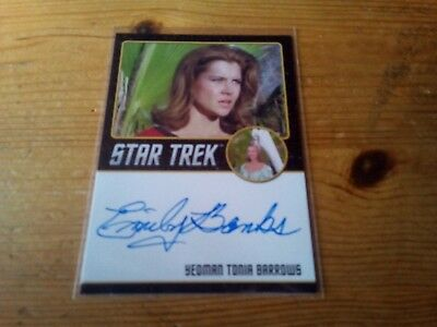 Star Trek Tos 50Th Anniversary ( Black Edge ) Autograph Card Of Emily Banks