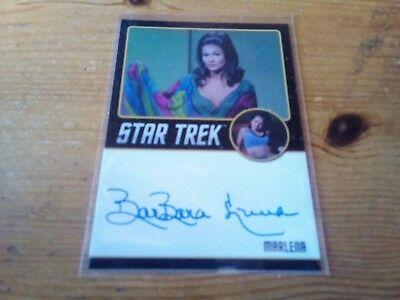 Star Trek Tos 50Th Anniversary ( Black Edge ) Autograph Card Of Barbara Luna