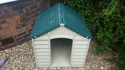 Large Dog Kennel Gr Durable Plastic Winter House ( Is Not The Smaller Version)