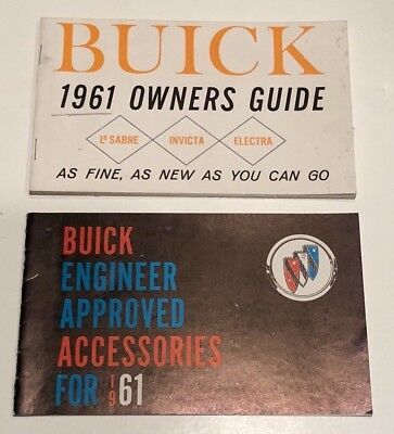 Buick Owner Manual  & Buick Accessories Booklet 1961