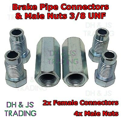 LAND ROVER FREELANDER Brake Pipe Connectors 10mm x 1mm  4 Male 4 Female Nuts